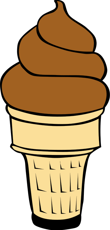 Chocolate clipart cone Clipart And Free ice Black