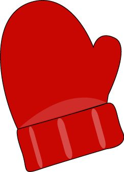 Yellow clipart mitten Single Pinterest Clothes Red Clip