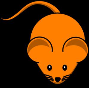 Orange clipart mouse  Art vector at Clip