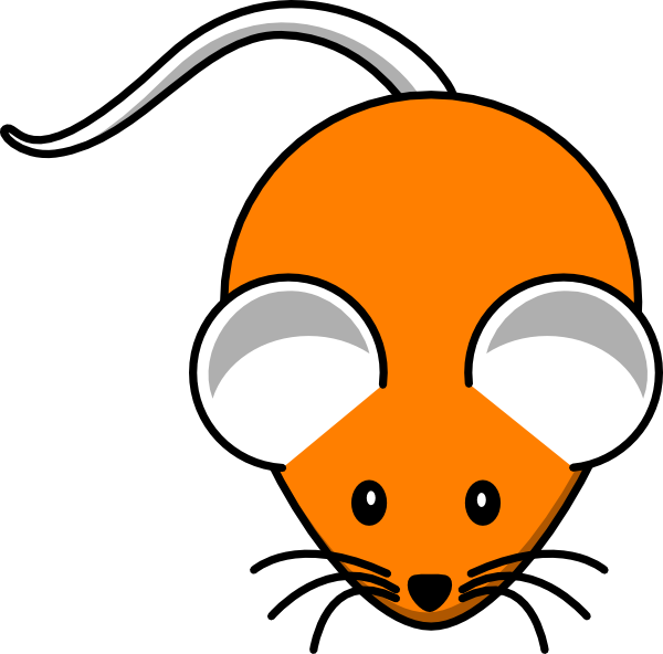 Orange clipart mouse  as: vector at Clip