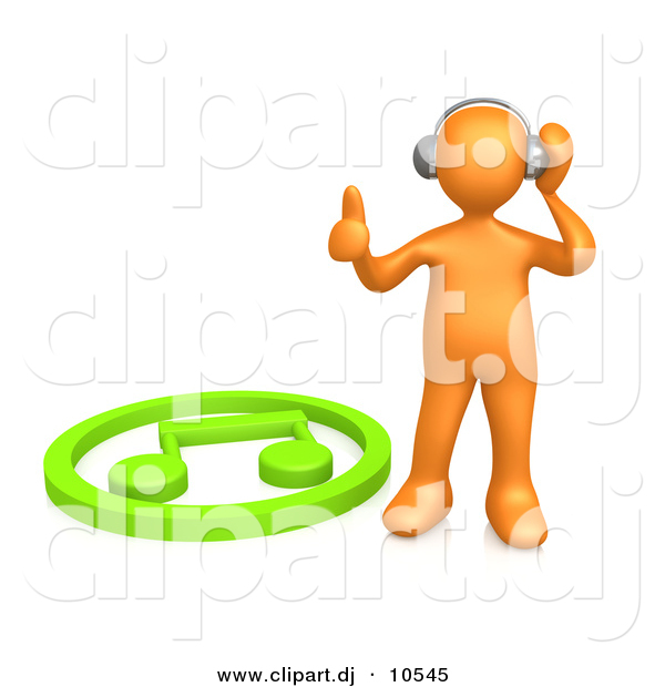 Headphones clipart animated Beside Standing 3d Listening Green