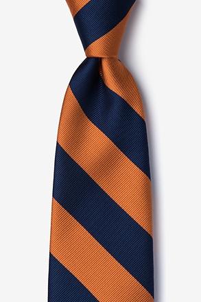 Orange clipart necktie Microfiber Tie com Orange Stripe