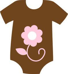 Brown clipart baby onesie ONESIE Girl CLIP CLIP ART
