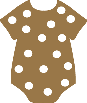 Brown clipart baby onesie Images Clip Polka Clothing Baby