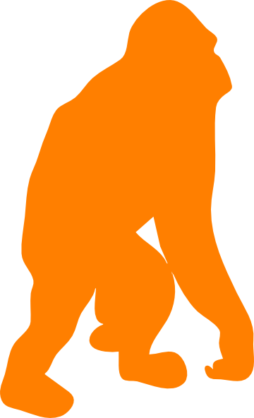 Orangutan clipart orange This com at Orangutan clip