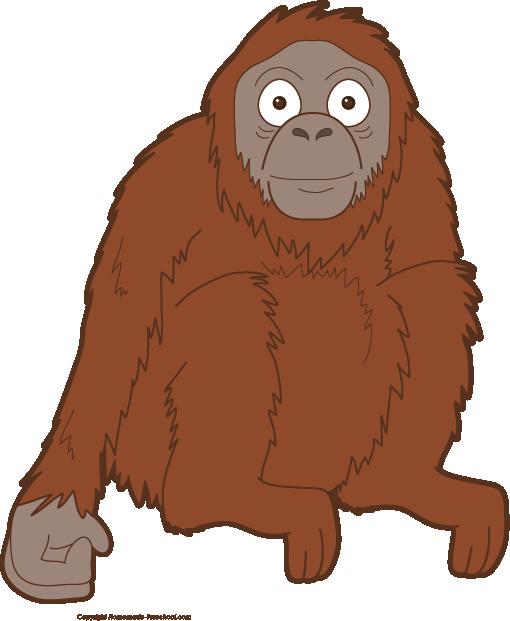 Orangutan clipart orange To Save Monkey Clipart Image