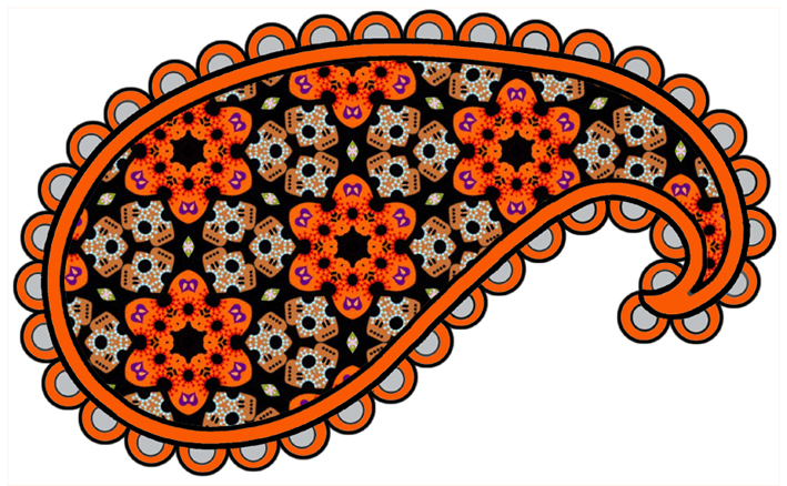 Orange clipart paisley On collection or arts