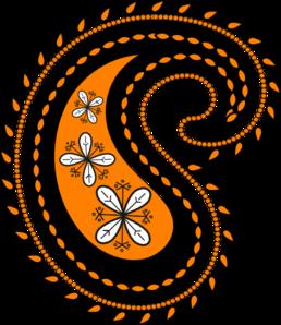Orange clipart paisley Clip 3 vector New Clip