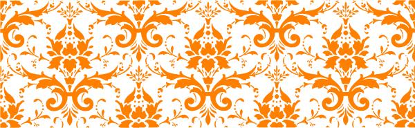 Orange clipart paisley Clip White vector this Clip