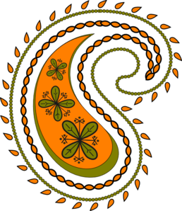 Orange clipart paisley Clip 2 vector New Clip