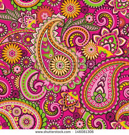 Orange clipart paisley Vectors Shutterstock Clip Stock Pink