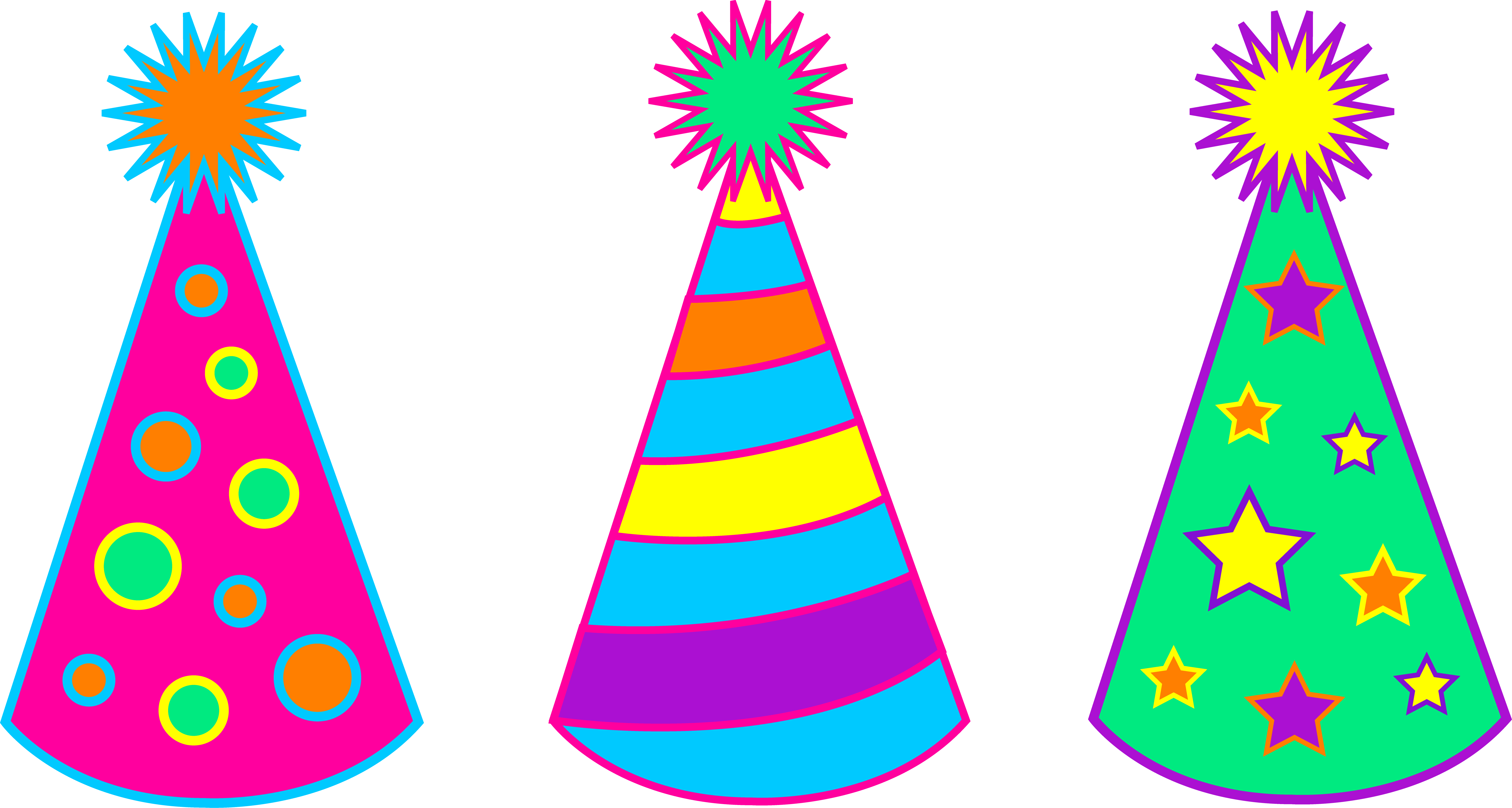 Candle clipart pastel color Party  Hat Vector Free