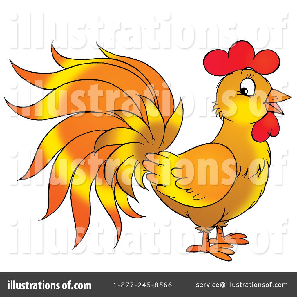 Rooster clipart orange #3