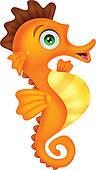 Orange clipart seahorse Royalty Art Mermaid · Seahorse