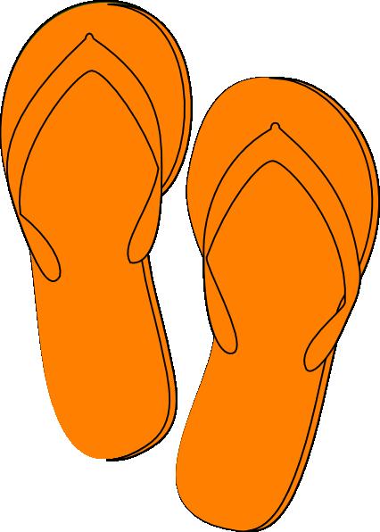 Shoe clipart flip flops #7