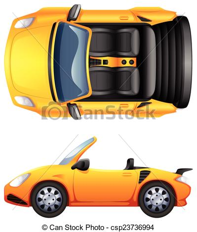 Orange clipart sports car A sports sports EPS and