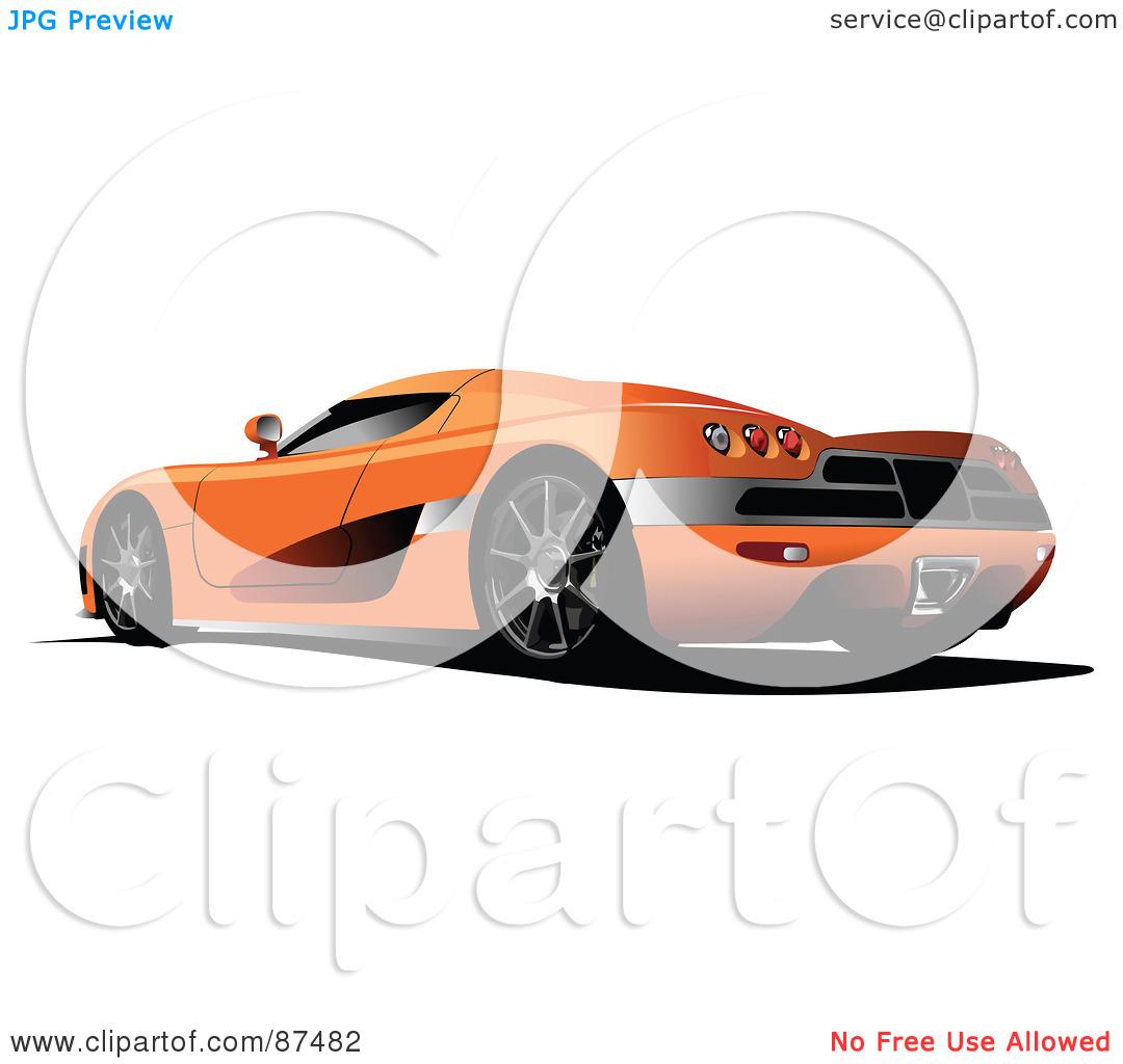 Orange clipart sports car Panda Images Clipart Sports Free