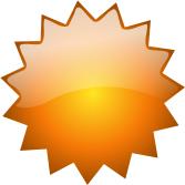 Orange clipart starburst Starburst Clip Orange Button Blank