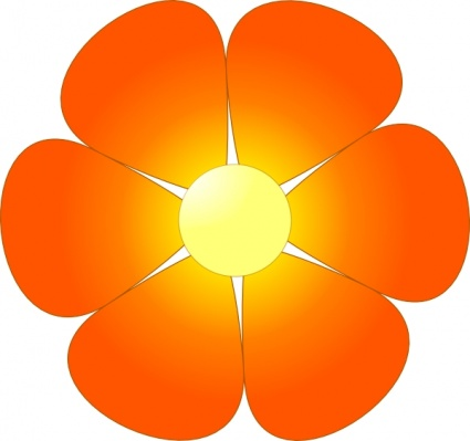 Orange Flower clipart cartoon vector Border Clipart Panda Sunflower Images