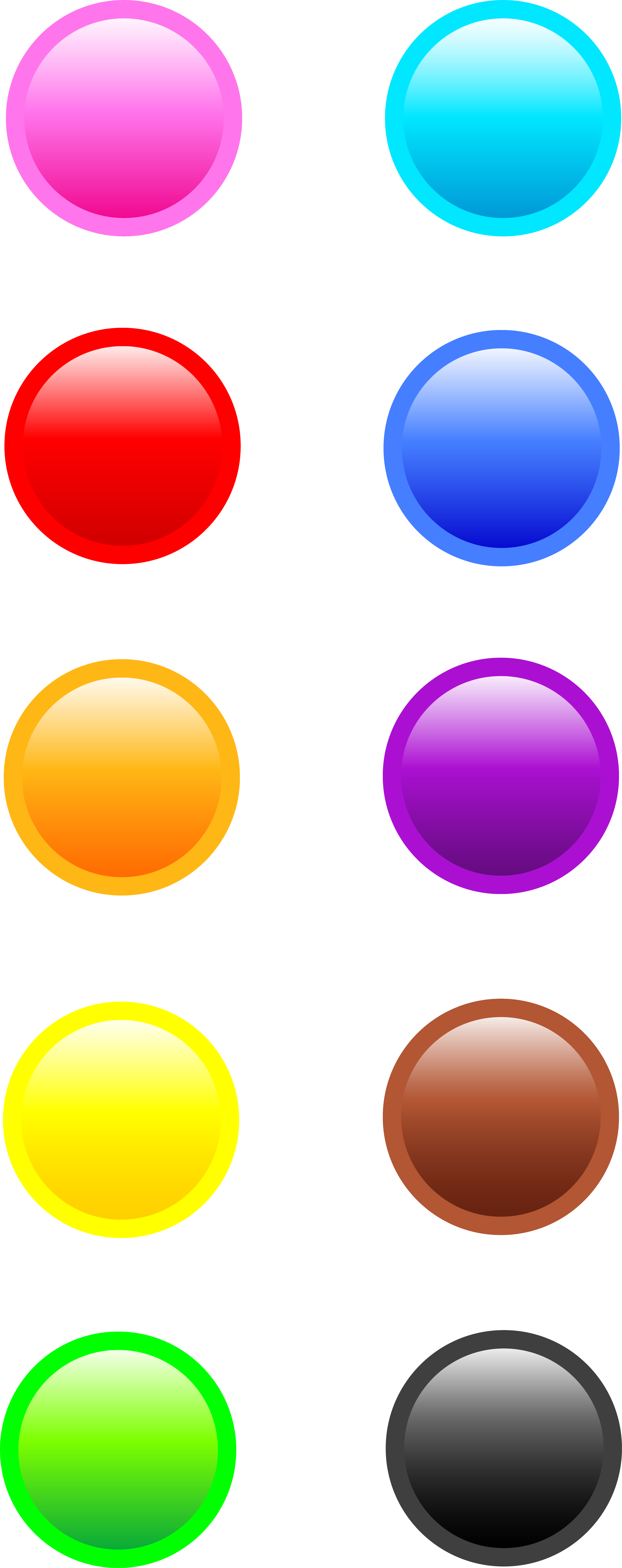 Button clipart website png Round Clip Buttons Colorful Round