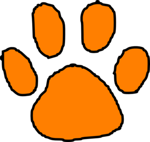 Orange clipart tiger paw At With Tiger Paw com