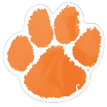 Orange clipart tiger paw On Clip Clipart Free Art