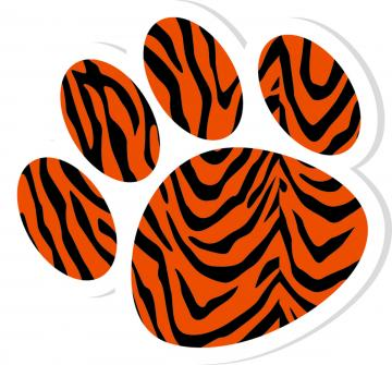 Orange clipart tiger paw Feline Download Clip Clipart Free