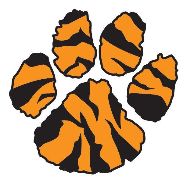 Orange clipart tiger paw Clipart tiger paw Clipart Clemson