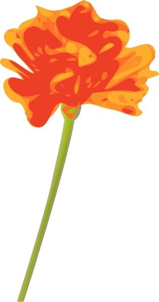 Orange Flower clipart Art svg office Open