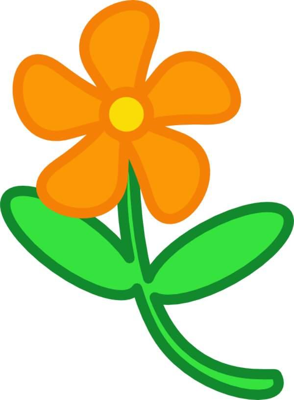 Orange Flower clipart Art  for Art Download