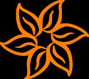 Orange Flower clipart small flower At vector Clip Orange