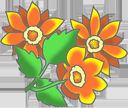 Orange Flower clipart art Free Flower  Clipart