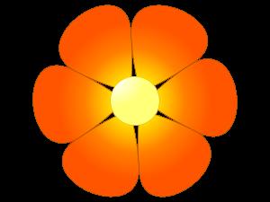 Orange Flower clipart bright flower Flowers Flowers Clipart Bright Clipart