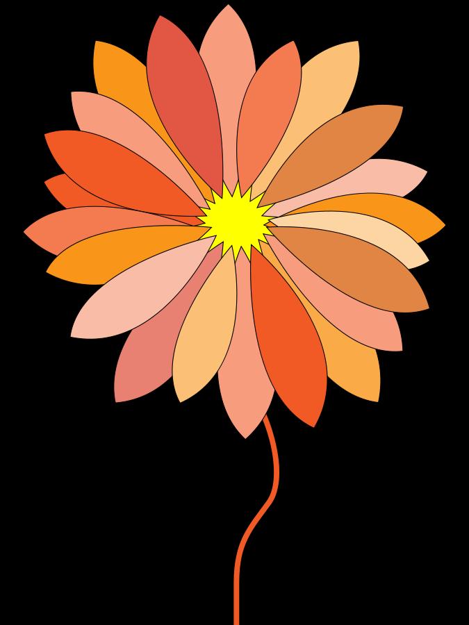 Orange Flower clipart cartoon vector Clipart Art Free clip art