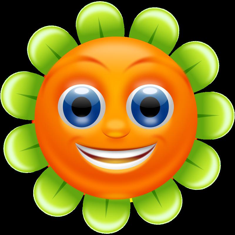 Orange Flower clipart cute cartoon Free Spring superb Free Clip