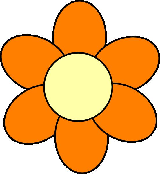 Orange Flower clipart cute cartoon On clip Clipart Art