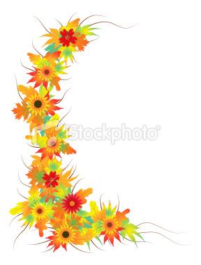 Orange Flower clipart fall flower Flowers  · Clipart leaves