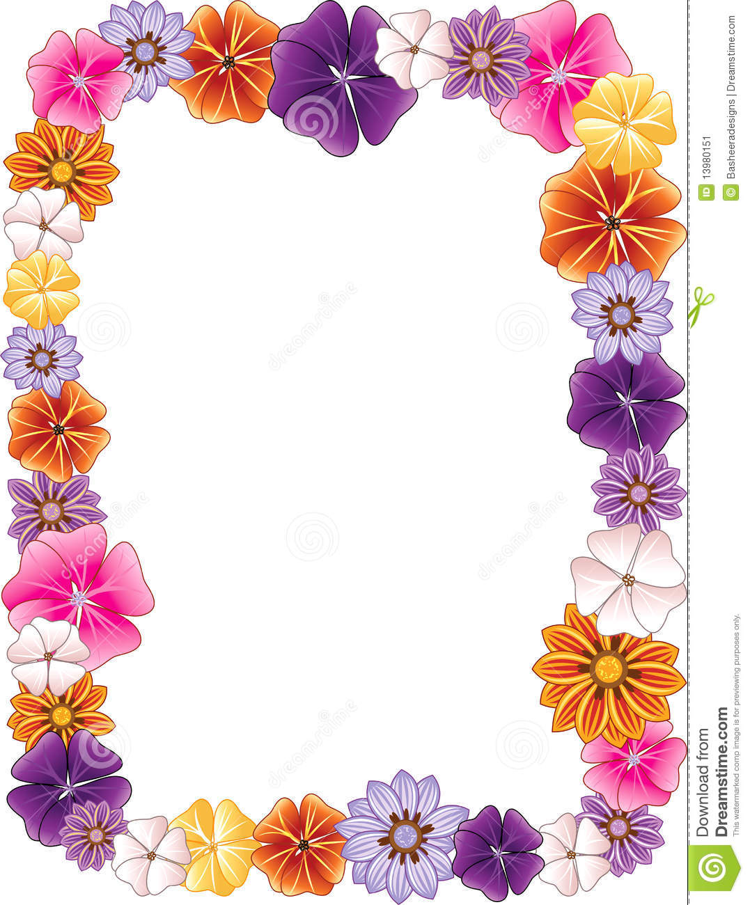 Orange Flower clipart flower bottom border Flower Free Panda Images hawaiian%20flower%20border%20clip%20art