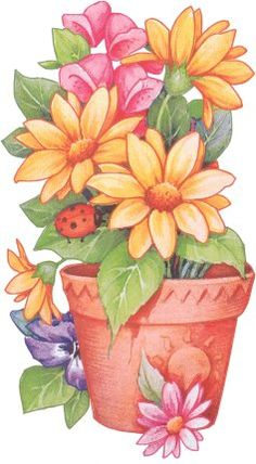 Orange Flower clipart flower decoration This para and and art