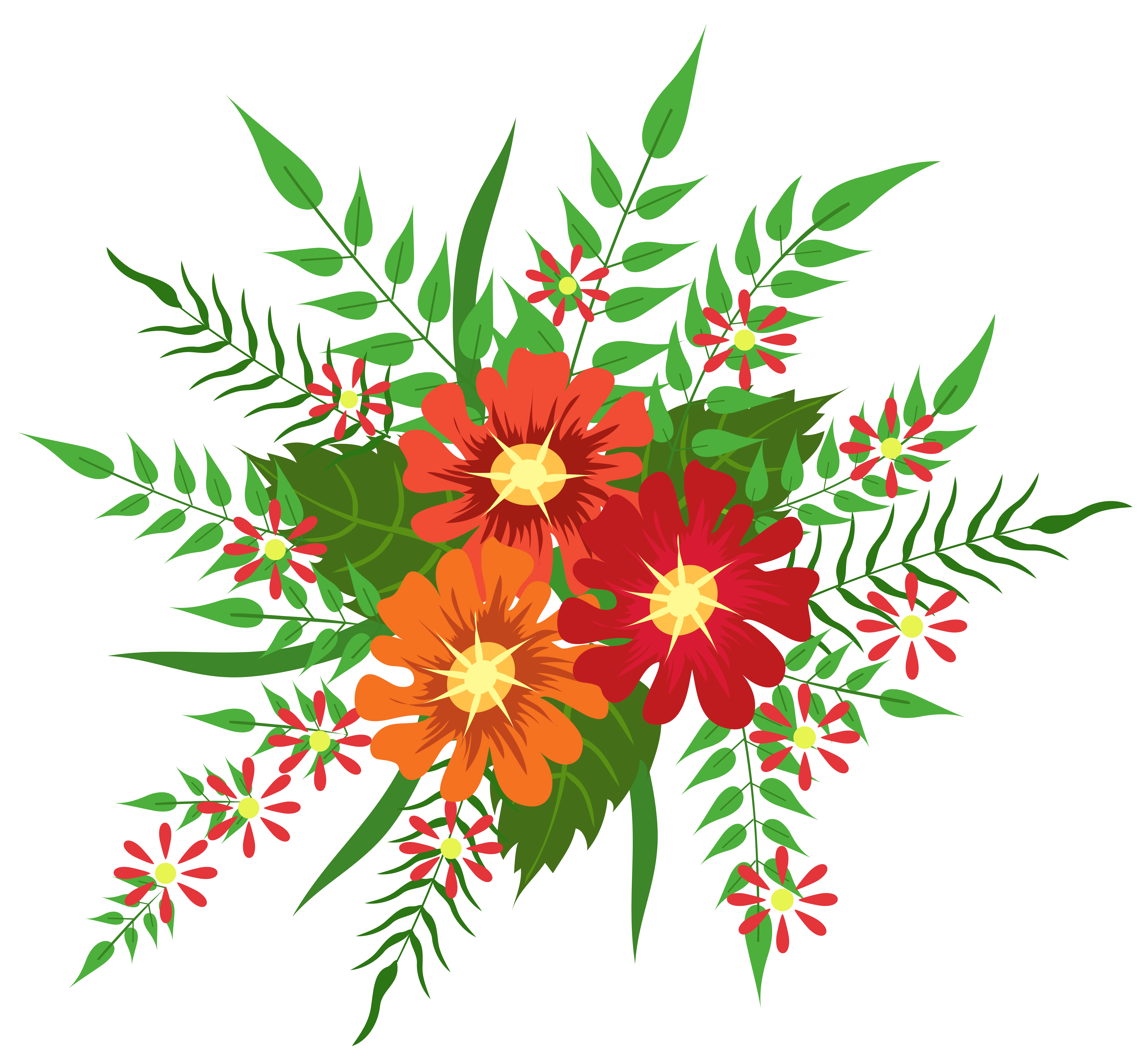 Orange Flower clipart flower decoration Image Red Flowers Flowers free