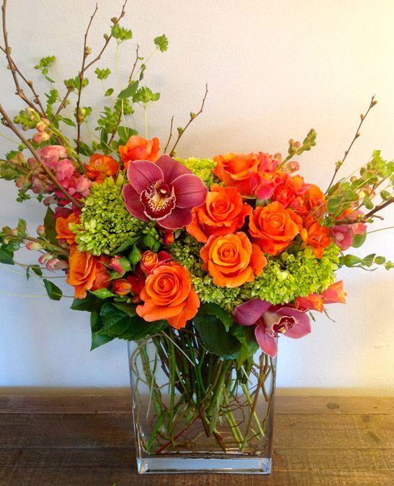 Orange Flower clipart flower decoration De flower para arrangements on