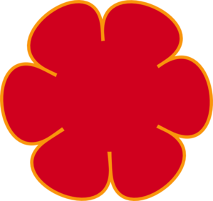 Red Flower clipart outline #3