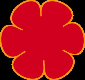 Red Flower clipart outline Online Flower Art Clker