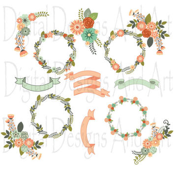 Orange Flower clipart flowery Flower art Flowers clip Floral