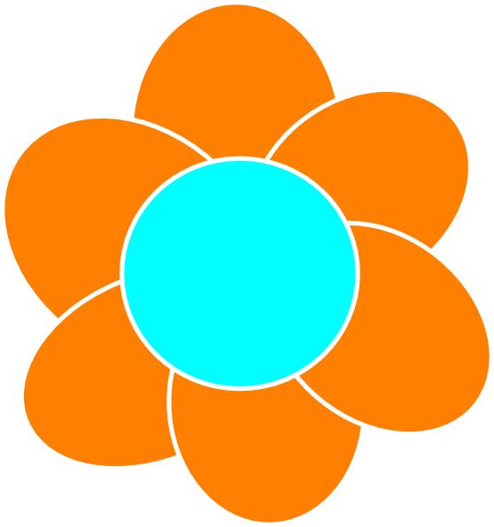 Orange Flower clipart gambar Free Clip Art Clip also