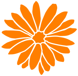 Orange Flower clipart gambar Clker com  clip Clip