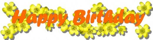 Orange Flower clipart happy birthday flower Happy Birthday Flowers Birthday Font