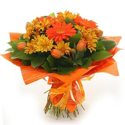 Orange Flower clipart happy birthday flower Birthday Clip Flowers collection Art