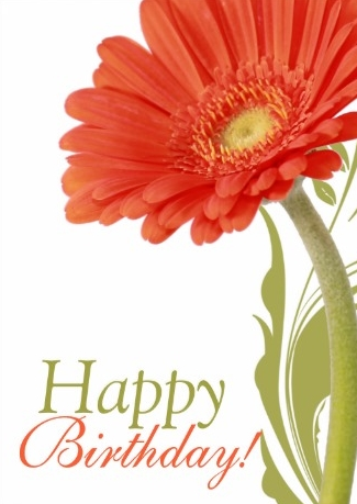 Orange Flower clipart happy birthday flower Happy Birthday Happy com Quotes