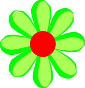 Red Flower clipart catoon #1
